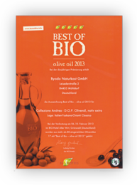 Best of Bio olive oil 2013